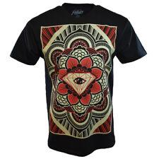 POPULAR POISON Men's T-Shirt -LOTUS FLOWER- DIAMOND- 100% COTTON-BLACK-LARGE