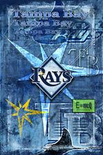 TAMPA BAY DEVIL RAYS Poster, TAMPA BAY RAYS MLB Baseball Print Free Shipping Us