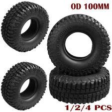 "1-4x 100MM OD Tire Tyre w/ Foam for RC 1/10 1.9"" Wheel Rims Axial SCX10 Crawler"