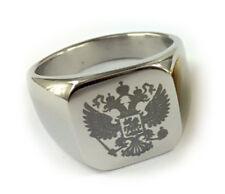 Masonic rings ebay. Silver Steel Scottish Rite Freemason Russian Coat of Arms