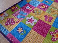 Kinder Spiel Teppich Patchwork pink gelb lila Edition Bunt auch in Rund