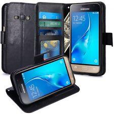Samsung Galaxy J1 2016 Housse  Coque Etui de luxe Portefeuille Cuir PU