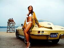 Ashanti Yellow Car Beach R&B Hip Hop Music Singer Giant Wall Print POSTER