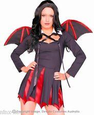 Very Bat Girl Vampiress Fancy Dress Halloween Women's Costume Sizes Small to XL