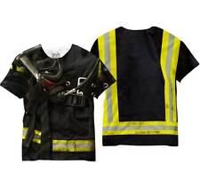 Firefighter Uniform Hero Service Rescuer EMS Mens Sublimation Tee Shirt V50026MT