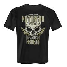 Geboren zum Motorrad fahren Herren T-Shirt Spruch Totenkopf Geschenk Idee Biker