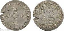 Louis XIII, 1/4 écu de Béarn en argent, 1627, Pau, patine - 4