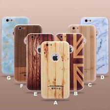 Apple iPhone 6, 6S PC - Aluminium 2in1 Bumper Schutz Hülle  Case Metal Holz opt.