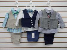 Infant Boys Nautica $50 3pc Assorted Vest Suits Size 3/6 Months - 6/9 Months