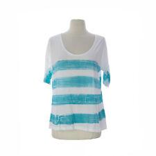 VELVET by Graham & Spencer Women's White/ Blue Short Sleeve Top $79 NEW