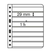 LEUCHTTURM. VARIO S8. 5 FOGLI A4 NERI PER CLASSIFICARE  FRANCOBOLLI