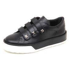 E4556 sneaker donna black HOGAN R320 scarpe strappi borchie shoe woman