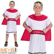 BAMBINO RAGAZZO Greco Antico ABITO FANTASIA RAGAZZI Libro Settimana Costume ROMANO Vestito Età 3-10