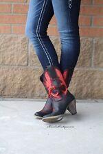 Very Volatile | Rio Grande Cowgirl Boots Black/Red