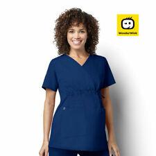 145 Womens Stretch Maternity Hospital Scrub Top Nurse Nursing Medical Uniform