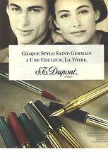 PUBLICITE 1990   DUPONT stylo bille plume SAINT GERMAIN