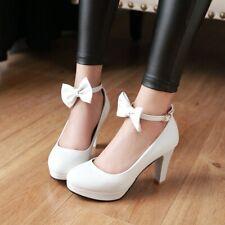 Clubwear Pumps Schleife Damenschuhe High Heels 33-46 Kunstleder Party Shoes NEU