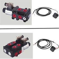 Hydraulik 6/2 - 8/3 Wegeventil Umschaltventil Weiche Magnetventil inkl. Taster
