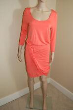 NEW Bebe 3/4 Sleeved Charming Cross Over Unique Drape Skirt Dress~M