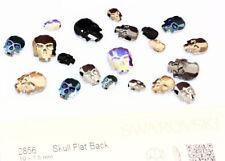Nuevo Original Swarovski 2856 cráneo plano espalda Hotfix Cristales * Muchos Colores