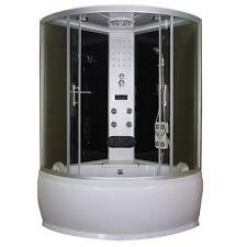 Cabina vasca multifunzione box doccia idromassaggio led 120x120 o 130x130|za