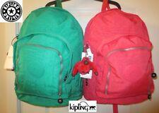 Kipling Trent Hiker Nylon Backpack Book Bag in Cactus Green or Jazzy Pink NWT