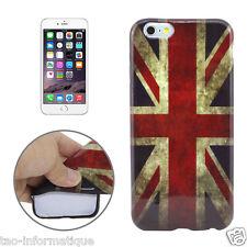 """Coque en TPU semi rigide pour iPhone 6 et 6S 4.7"""" drapeau UK / USA rétro"""