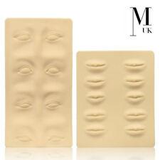 Piel de capacitación práctica 3D-microblading Tatuaje PMU falso Piel Labios Y Cejas
