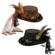 Gothic Zylinder, Steampunk Hut, Viktorianischer Zylinderhut Retrolook, Karneval
