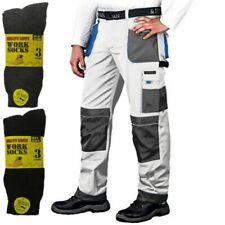 PINTORES Trabajo Pantalones de combate del Cargo Rodilleras Bolsillos