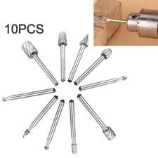 10 PCS Set HSS Titanium Dremel Routing Rotary Milling Rotary File Cutter Wood