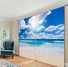 Symphony Sky Blue 3D Blockout Photo Mural Printing Curtains Draps Fabric Window