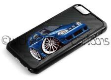 WickedArtz Cartoon Volkswagen VW Golf Mk4 R32 in Blue iPhone 4/5/6/7 Case/Cover
