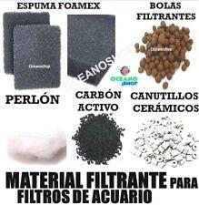 FOAMEX espuma BOLAS FILTRANTE CARBON activo PERLON filtro acuario CANUTILLOS
