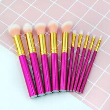 Professional Makeup Brushes Tools 10Pcs Cosmetic Eyebrows Face Lip Brush Kits