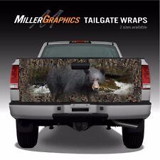 "Black Bear Camo ""Oak Ambush"" hunting Truck Tailgate Vinyl Graphic Decal Wraps"