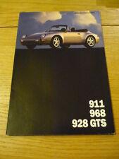 Porsche 911 (993) 968 y 928 Gts folleto 1993 Jm