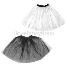 LONG NET UNDERSKIRT TUTU 1950'S ROCK N ROLL FANCY DRESS COSTUME ACCESSORY NETTED