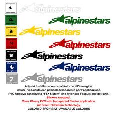 adesivi moto vinile prespaziato alpinestar sponsor sticker 4 pz. cm. 10-15