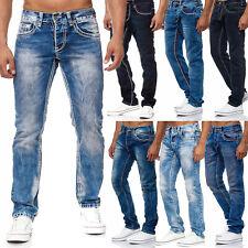 Jeans uomo cuciture ornamentali BIG SEAM gamba diritta toni del blu AMICA