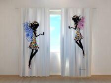 Fotogardine Schöne Feen Vorhang Gardine mit Digitaldruck auf Maß