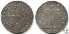 DIRECTOIRE (1795-1799) 5 FRANCS UNION ET FORCE AN 7 L BAYONNE !!!!