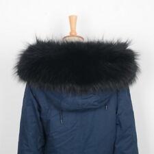 Women Men Large Real Fur Collar Trim for Parka Hood Fashion Scarf Hook 75cm31692