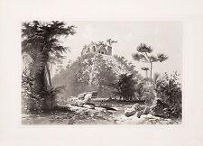 "Frederick Catherwood: ""Teocallis at Chichen Itza"" (1844) — Giclee Fine Art Print"