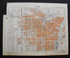 1888:Gravure.Topografia=Plan TORINO-TURIN.L.Thuillier..