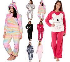 Luxury Womens Cute Animal Thermal Fleece Pyjama Set Long Sleeve Pyjamas PJ'S