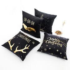 Pillow Case Merry Christmas Decoration Home Deer Santa Claus Gift Xmas Navidad