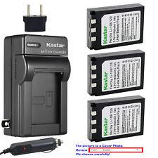 Kastar Battery AC Charger for Olympus Li-10B Li-12B Li-10C Stylus 600 Digital