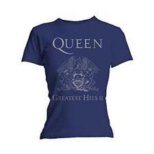 Ladies Queen Greatest Hits Freddie Mercury Official Tee T-Shirt Womens Girls