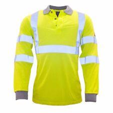 Portwest - Flame Resistant Anti-Static Hi-Vis Long Sleeve Polo Shirt